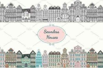 1810223 Seamless Old Styled Houses 66574 5