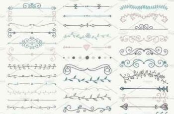 1810243 Hand Drawn Dividers, Arrows 291098 6