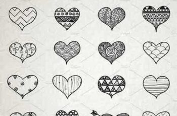 1810251 Hand Skeched Hearts Set 1190976 7