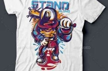 1810277 Stand Alone T-Shirt Design 15514417 14