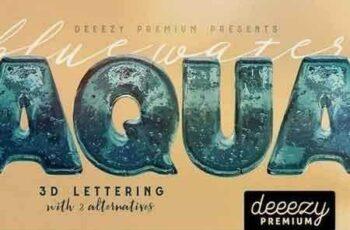 1810292 Aqua – 3D Lettering 2338447 3
