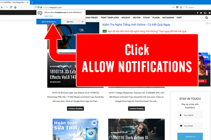 Subscribe to Push Notifications to obtain latest updates 1