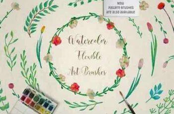 1811024 Watercolor Art & Pattern Brushes 1260651 5