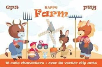 1811036 Happy Farm Cute Animals 114004 4