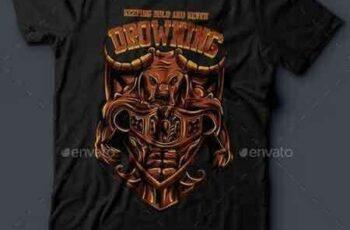 1811048 Drowning T-Shirt Design 14481002 1