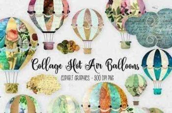 1811070 Collage Hot Air Balloon Clipart 270855 7