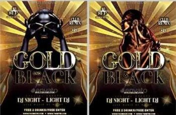 1811100 Black Gold Party Flyer 22476374 10