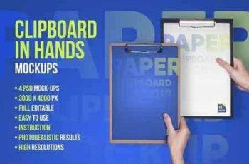 1811150 Clipboard in Hands PSD Mock-up 2824100 2