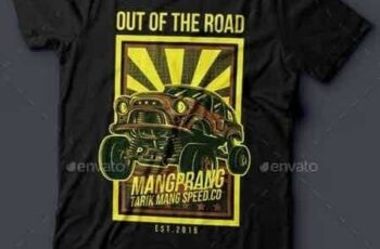 1811187 Out of the Road T-Shirt Design 14869161 6