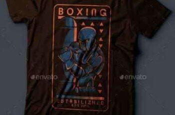 1811199 Robo Boxing T-Shirt Design 18532012 6