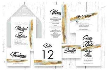 1811201 Abstract - Wedding Invitation Ac.60 2868407 3