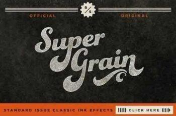 1811202 SuperGrain Retro PSD Ink Effect 51380 4