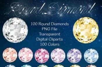 1811237 100 Round Diamond Clip Arts 3482675 4