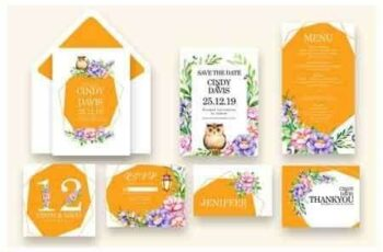 1811259 Flowers and Bird - Wedding Invitation As.8 3482457 2