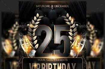 1811273 Vip Birthday Anniversary Party Flyer 22489680 6