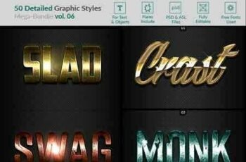 1812010 50 Text Effects - Bundle Vol 06 22497258 8