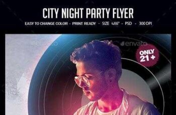 1812012 City Night Party Flyer 22509493 2