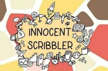 1812057 Innocent scribbler with doodle icons 2794129 4