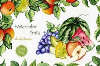 1812073 Watercolor fruits 542760 2