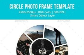 1812089 Circle Photo Frame Templates 12581845 4