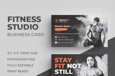 1812119 Fitness Business Card 22510382