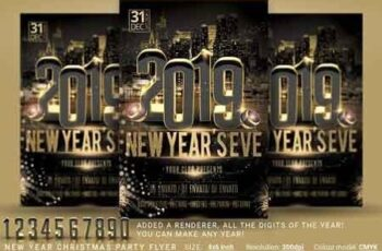 1812125 New Year Christmas Party Flyer 2900762 2