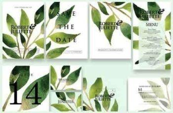 1812149 Leaves - Wedding Invitation Ac.64 2893588 8