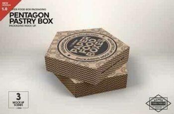 1812195 Pentagon Pastry Box Mockup 2903007 3