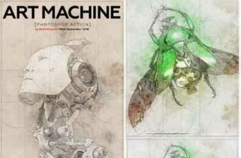 1812196 Art Machine Photoshop Action 22564551 1