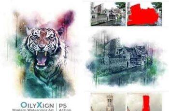 1812198 OilyXign - Modern Watercolor Art 22561224 7