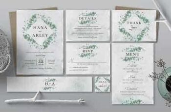 1812201 Eucalyptus Wedding Invitation Suite 2818501 6