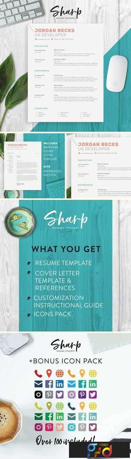 1812207 Modern Resume Template for Word 2160528 1