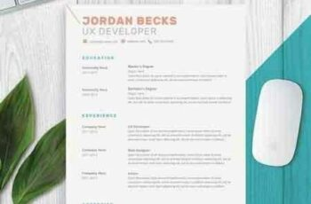 1812207 Modern Resume Template for Word 2160528 8