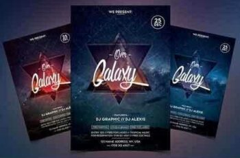 1812209 Over Galaxy - Event PSD Flyer 2127110 3