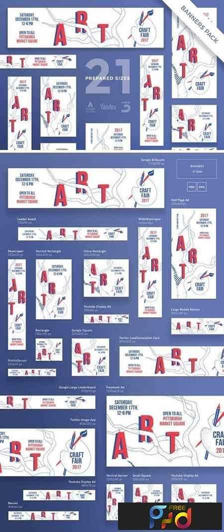 1812211 Banners Pack Craft Fair 1752195 1