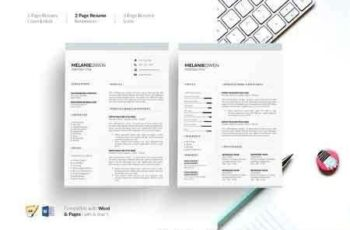 1812233 5 Page Resume CV Template Resume 2708743 4
