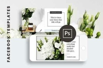 1812254 Facebook Post Templates for Adobe 2844226 5