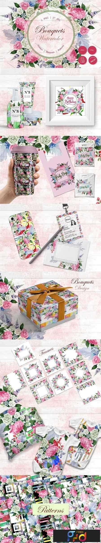 1812275 Wedding watercolor bouquets PNG set 2896357 1