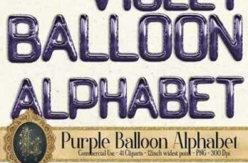 1812279 41 Ultra Violet Balloon Alphabet Clip arts, Purple Alphabet 3483061 3
