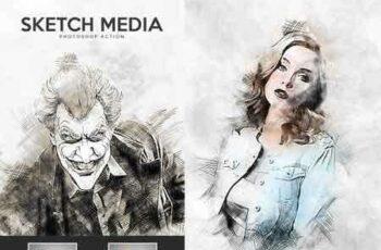 1812300 Sketch Media - Photoshop Action 22563624 5