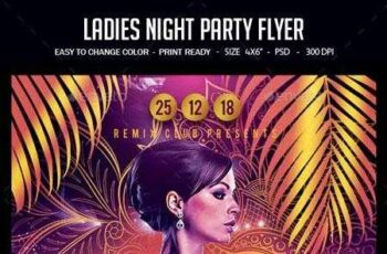 1812315 Ladies Night Party Flyer 22541861 6