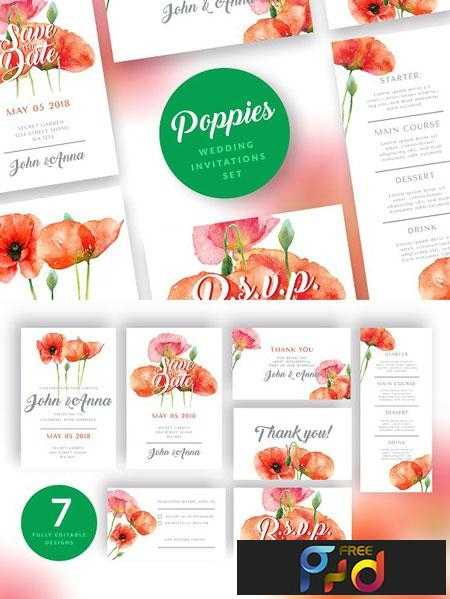 1812321 Red Poppies Wedding Invitation Set 2839541 1