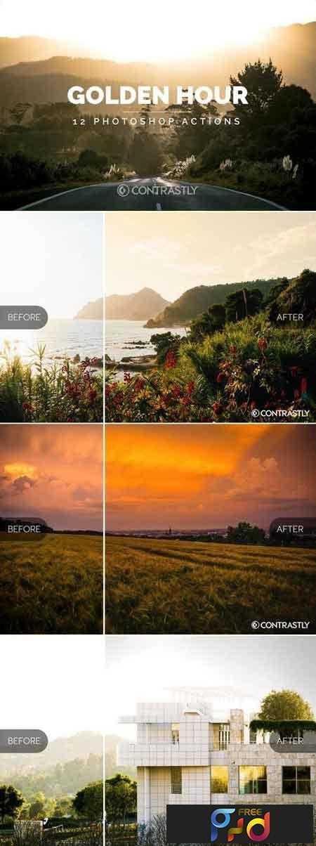1812325 Golden Hour Photoshop Actions YUJP7V 1