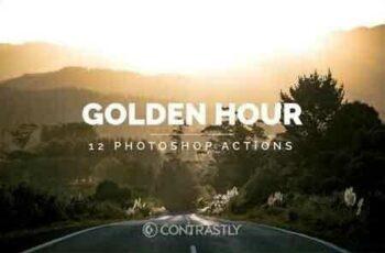1812325 Golden Hour Photoshop Actions YUJP7V 3
