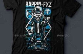 1812342 Rappin-FXZ T-Shirt Design 18074829 3