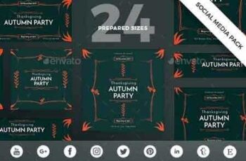 1812344 Autumn Party Social Media Pack 20769397 5