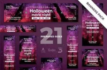 1812354 Halloween Movie Banner Pack 20786471 3