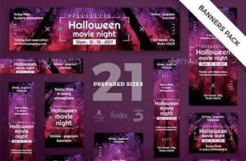 1812354 Halloween Movie Banner Pack 20786471 10