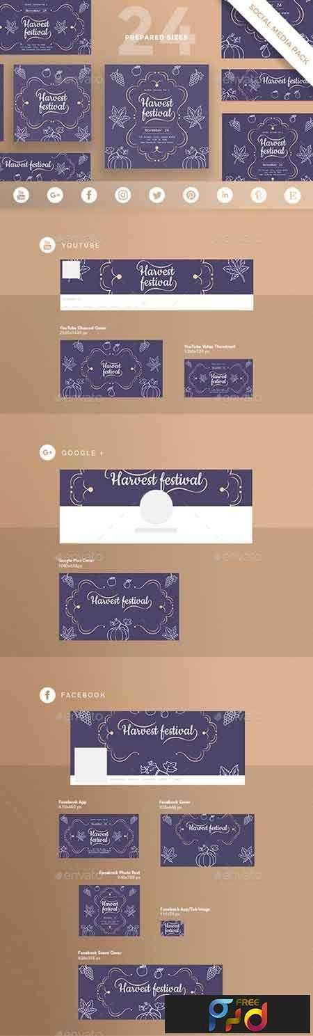 1812361 Harvest Festival Social Media Pack 20829471 1