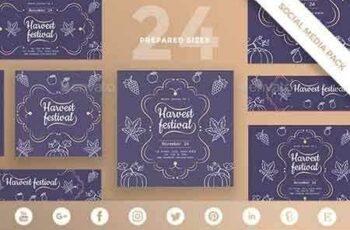 1812361 Harvest Festival Social Media Pack 20829471 8